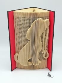 Gefaltetes Buch mit Tiermotiv ☆ Hund ☆ handgefertigt mit festem Einband kaufen