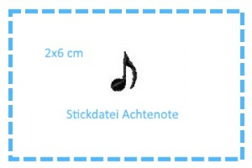 Stickdatei 1/8-Note 2x6cm