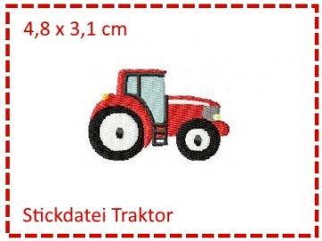 Stickdatei Traktor Füllstich Mini 10x10cm