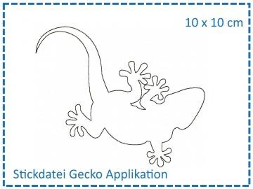 Gecko Applikation 10x10 Stickdatei