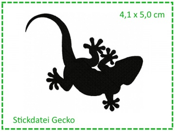 Gecko MINI 10x10 Stickdatei