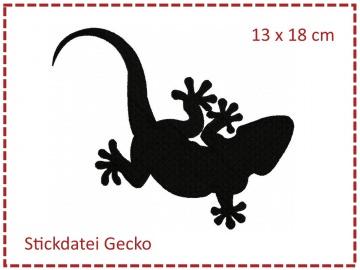 Gecko 13x18 Stickdatei