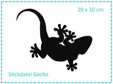 Gecko 20x30 Stickdatei