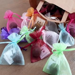 100 x Seedball Gastgeschenk im Organzabeutel in verschiedenen Blumenmischungen | Seedbombs