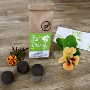 Special-Edition Seedballs 'Blütenmeer - Für Dich' - 3er Packung Seedbombs mit bunter Sommerblumenmischung   Geschenkidee für verschiedene Anlässe