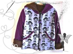 Schöne,wärmende Winterjacke für kleine Piratenmädchen,Gr.116 - Handarbeit kaufen