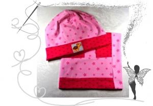 Schlauchschal und Mütze im Set,rosa/pink,Gr.50/52,3/5Jahre - Handarbeit kaufen