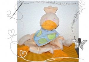 Süßes Kuscheltuch, Schmusetuch Ente ,extra groß und kuschelig - Handarbeit kaufen