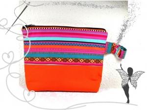 Bunte,farbenfrohe Kulturtasche,Tablet-Tasche,Windeltasche im Boho-Styl - Handarbeit kaufen