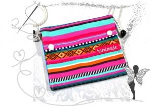 Kleine praktische bunte Umhängetasche,Festivaltasche - Handarbeit kaufen