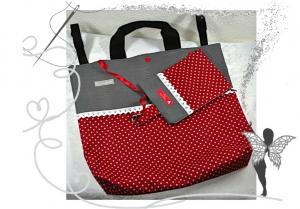 Wunderschöne,rote,praktische Rollatortasche für die Mama, Oma oder Ur-Omi