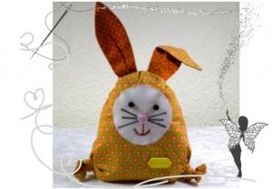 Lustiger,kleiner Hase mit Täschchen für Geldgeschenke,Gutscheine oder liebe Botschaften