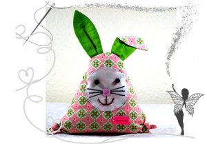 Lustiger,kleiner Hase mit Täschchen für Geldgeschenke,Gutscheine oder liebe Botschaften (Kopie id: 100174948)