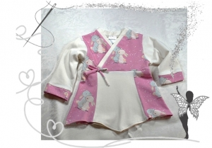 Einzigartiges Elfenkleid Gr.50/56,Geschenk zur Geburt,mit Hasen - Handarbeit kaufen