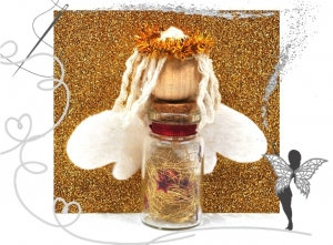 Glasfläschchen-Schutzengel,Anhänger für Geschenke,Weihnachtsdeko - Handarbeit kaufen