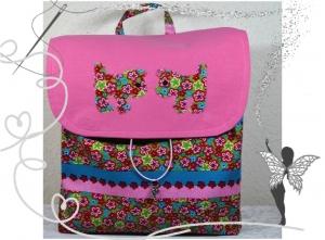 Bunter Rucksack Hunde,rosa,bunt,für Kinder ab 6 Jahren - Handarbeit kaufen