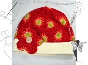 Farbenfrohe Mädchen-Mütze,Gr.50-52,1-2Jahren,handgemacht - Handarbeit kaufen