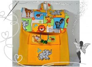Handgenähter,farbenfroher KInderrucksack mit Zootieren - Handarbeit kaufen