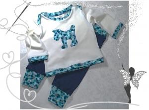 Babyset Gr.62,Langarmshirt und Leggins mit bunten Punkten,  Geschenk zur Geburt - Handarbeit kaufen