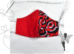 Behelfsmaske mit Nasenbügel ,2-lagig,100%Baumwolle - Handarbeit kaufen