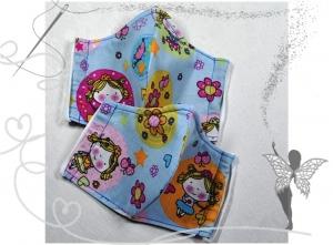 Kinder-Behelfsmaske mit Nasenbügel,Prinzessin,2Stück,100%Baumwolle  - Handarbeit kaufen