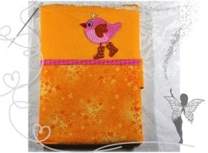 Handgemachte Windeltasche,Geschenk zur Geburt,Vogel gelb - Handarbeit kaufen