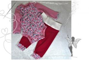 Einzigartiges Baby-Set Gr.62/68,Langarmbody und Hose im Set,Geschenk zur Geburt