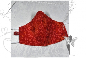 Behelfsmaske mit Nasenbügel ,2-lagig,100%Baumwolle