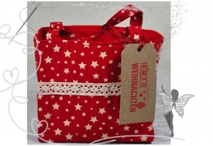 Kleines dekoratives Täschen für kleine Geschenke in der Adventszeit  - Handarbeit kaufen