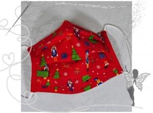 Behelfsmaske mit Nasenbügel ,2-lagig,100%Baumwolle,Advent