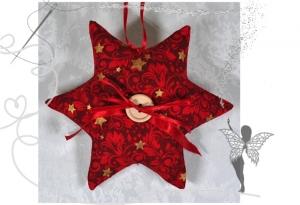Roter Stern mit Tasche für Geldgeschenke und liebe Botschaften