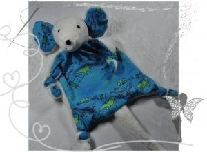Reserviert-Sonderanfertigung-Maus-Kuscheltuch-Schmusetuch für Kinder ab 3 Jahren