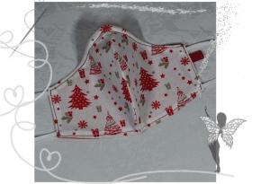 Behelfsmaske mit Nasenbügel ,2-lagig,100%Baumwolle,Advent   - Handarbeit kaufen