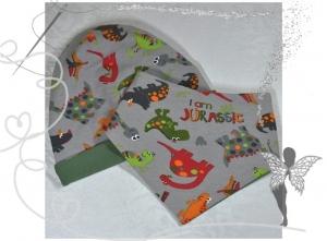 Dino-Mütze und Halstuch im Set,Geschenk zur Geburt - Handarbeit kaufen