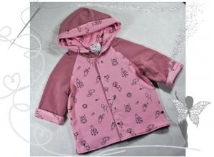 Einzigartige Baby-Jacke,Gr.56,rosa mit Strichmännchen - Handarbeit kaufen