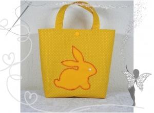 Kleine Kindertasche mit Hasenmotiv,Geschenk zu Ostern,gelb - Handarbeit kaufen