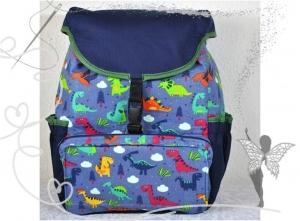 Rucksack mit Dinosaurier, für Kinder ab 6 Jahren,handgenäht