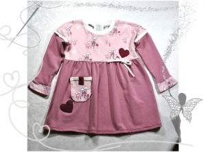Verspieltes Mädchenkleid Gr.80,rosa mit Pilzmotiv - Handarbeit kaufen