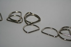 D-Ringe-Halbringe, 25x16,5x3mm *verchromt* für 25mm Gurt/Band