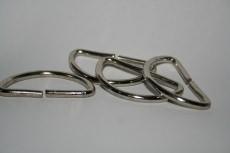D-Ringe 40x20x3,2mm Halbrundringe Stahl