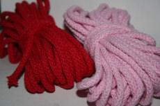 Baumwollkordeln ,  5mm/Durchmesser Farbe ROT