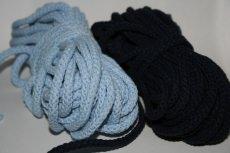 Baumwollkordeln ,  5mm/Durchmesser Farbe hellblau