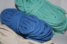 Baumwollkordeln ,  5mm/Durchmesser Farbe turkis