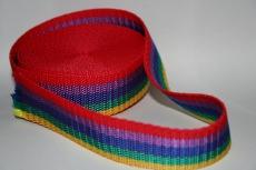 Farbiges Gurtband - bunt - 1m  30mm breit