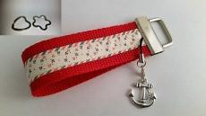 Schlüsselanhänger- Anker Maritim Rot - Navigation