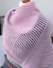 Schultertuch aus Babyalpaka und Kidmohair im Mustermix rosa