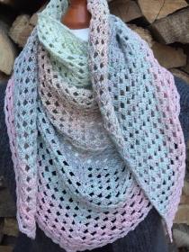 Schultertuch im Granny Style gehäkelt in Pastelltönen