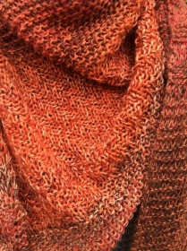 Schultertuch Grobstrick aus Baumwolle mit Schurwolle