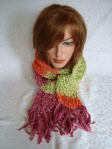 Toller Schal leicht und luftig - Batiko Sun