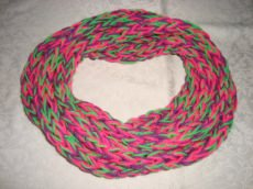 Schlauchschal / Loop - Finger Knitted